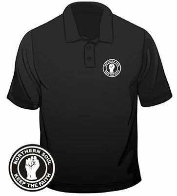 Northern Soul Badge Keep The Faith Polo Mens Loose Fit Cotton T-Shirt