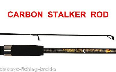8ft CARBON CARP STALKER ROD 2pc FOR COARSE SEA FISHING SPINNING RIGS LURES PIKE