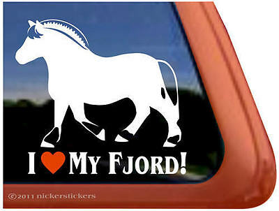 I LOVE MY FJORD! Norwegian Fjord Horse Trailer Decal Sticker