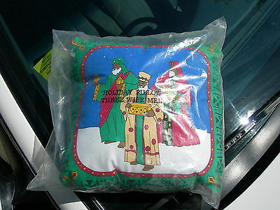 Avon Holiday Pillow--Three Wise Men 1995 Sealed--Afro-American