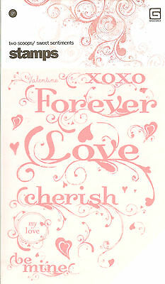 LOVE Sweet Sentiments Clear Unmounted Rubber Stamps Set BASICGREY STA-1038 NEW