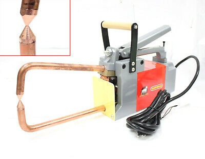 "115V HANDHELD SPOT WELDER 1/8"" METAL STUD WELDING Machine w/Tongs & Tips"