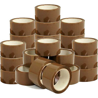 72 Rolls X 48Mm Brown Packing Parcel Packaging Tape 66M