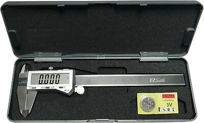 "6"" DIGITAL ELECTRONIC CALIPER FRACTIONAL LCD STAINLESS"