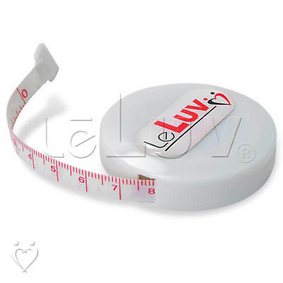 "LeLuv Retractable inch / cm 60"" Tailors Sewing Multipurpose Measuring Tape Ruler"