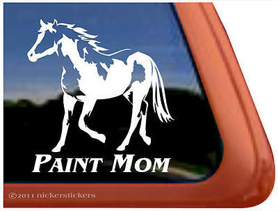 PAINT MOM American Paint Horse Trailer Window Decal Sticker