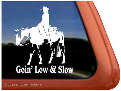 GOIN' LOW & SLOW ~ Western Pleasure American Paint Horse Trailer Decal Sticker