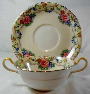 Aynsley Melrose Cream Soup Cup & Saucer