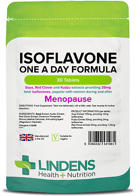 Isoflavones (Soya) Formula with kudzu and red clover- menopause- (30 tablets)