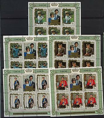 Penrhyn 1982 Royal Birth MNH Sheetlets Set