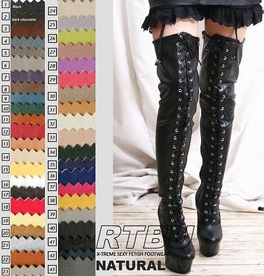Fetish Dominatrix Leather Dance Knee/Thigh/Crotch Boot