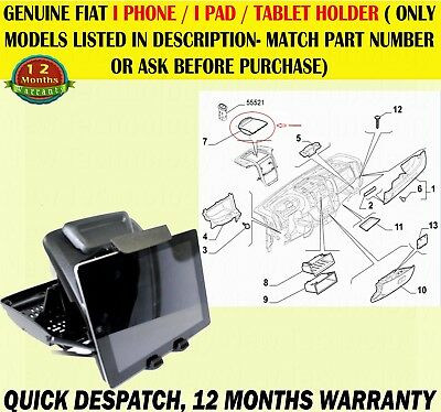 Genuine Fiat Nuovo Ducato 2015 Onwards Dash Tablet/Ipad/I Phone Holder 735653789