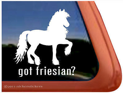 GOT FRIESIAN?~ High Quality Vinyl Horse Trailer Window Decal Sticker