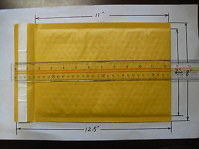 """15  pack  #2  Size KRAFT BUBBLE MAILERS PADDED ENVELOPES 8 """"x12.5 """" inche CD DVD"""