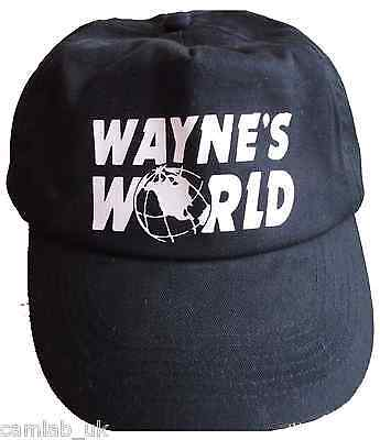 Waynes World Printed Baseball Cap Hat Party Halloween Fancy Dress Stag