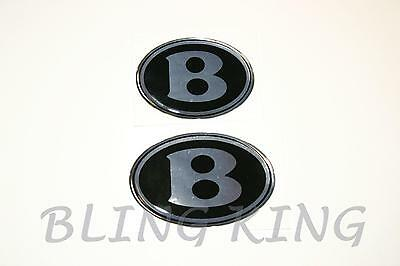 "Chrysler 300 Bentley ""B"" emblem mesh grille grill badges front/trunk/steering"