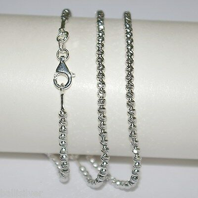 10 pieces RHODIUM PLATED Sterling Silver 925 3mm LASER CUT BEAD BRACELETS Lot