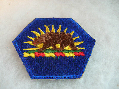 50/60's CALIFORNIA NATIONAL GUARD HEADQUARTERS COTTON EMBROIDERED WITH CUT EDGE