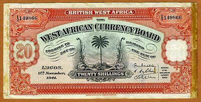 British West Africa, 20 shillings, 1941, P-8b, WWII > Military History Piece