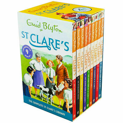 Enid Blyton St Clares Boxed Set 9 Books Collection The Twins School Term