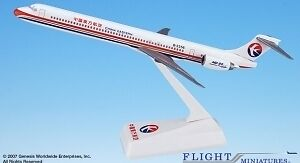 CHINA EASTERN AIRLINES MD-90 DESK MODEL 1/200 SCALE NEW