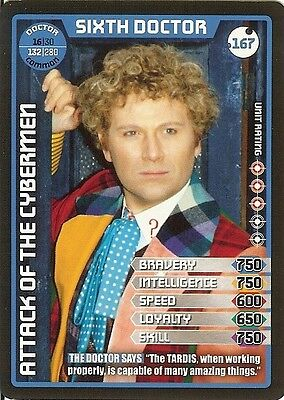 Dr Who Monster Invasion Set 2 Extreme Card: 167 Sixth Doctor