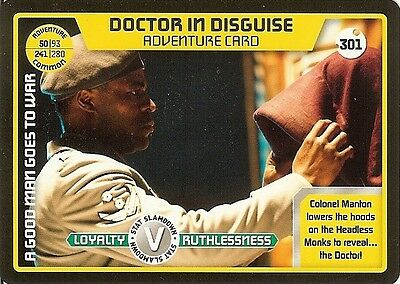 Dr Who Monster Invasion Set 2 Extreme Card: 301 Doctor In Disguise