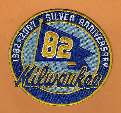 2007 MILWAUKEE BREWERS WORLD SERIES CHAMPS 25th ANNIVERSARY JERSEY PATCH Unused
