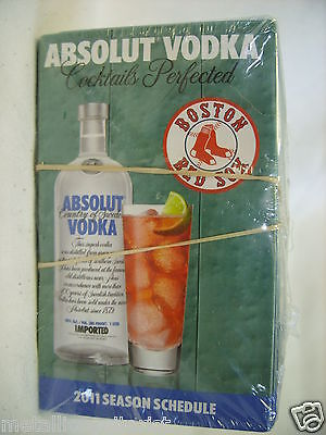 (25) Absolut Vodka - Boston Red Sox 2011 Schedule Brochure Booklet - Sealed