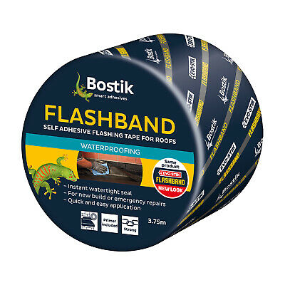 FLASHBAND Genuine Evo-Stik Flashing Tape 100mm x 10mtr 10M Lead Substitute