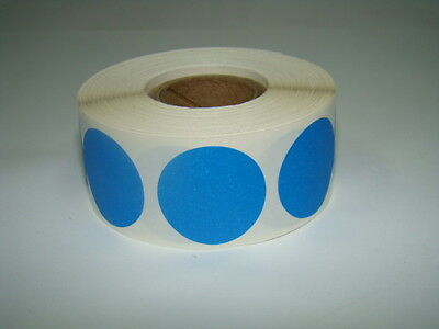 """1/2"""" BLUE Circle Color Coded Coding Inventory Warehouse Labels 1000/Roll"""
