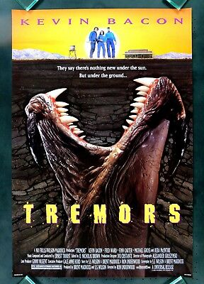 TREMORS * CineMasterpieces 1SH MOVIE POSTER MONSTER HORROR COMEDY 1989