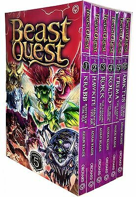Beast Quest Collection Adam Blade 6 Books Set Series 5 Pack 25 to 30 New PB