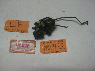 00 01 02 ACCENT DRIVER L LH LF LEFT FRONT DOOR LATCH LOCK  OEM OE 03 04 05 USED