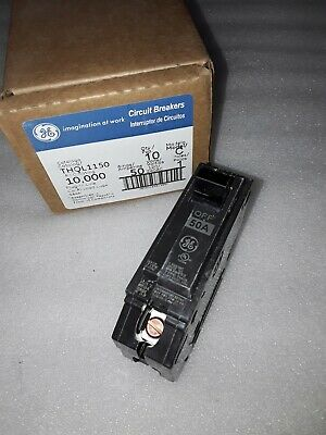 Ge General Electric Thql1150 New Circuit Breaker 1 Pole  50 Amp 240 Vac