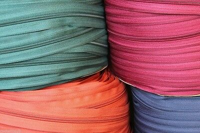 Upholstery Zip continuous N 5 stronger that N3, 8 colours