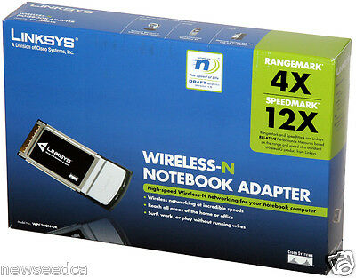 Linksys Wireless-N Notebook Adapter WPC300N-UK PCMCIA Wireless Cardbus