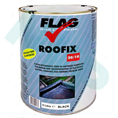 Roofix 20/10 (Multisurface) 5ltr Roof & Gutter Repair, made by Flag Paints Ltd