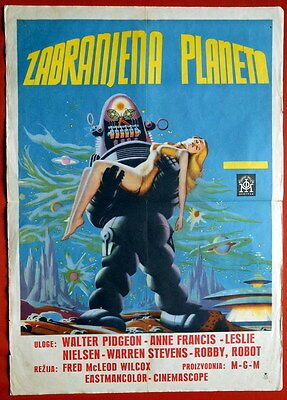 Blue Forbidden Planet Sci-Fi 1956 Stunning Unique Misprint Exyu Movie Poster