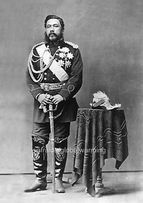 "Photo ca 1879 Hawaii ""King David Kalakaua"""