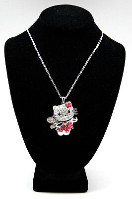 NEW!! HELLO KITTY BIG 3D BODY PINK FLOWER WITH WING NECKLACE ~~!!