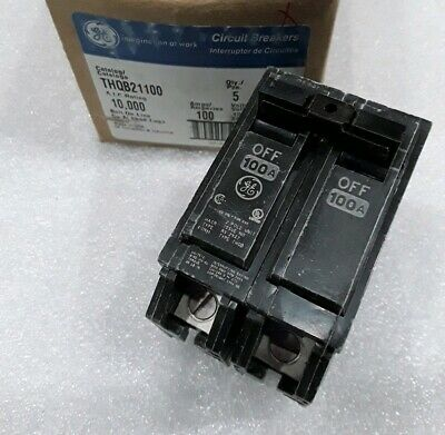 Ge Thqb21100 New Circuit Breaker 2 Pole  100 Amp 240 Vac