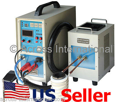 15KW 30-80KHz Dual Station Solid State Induction Heater Heating Melting Furnace