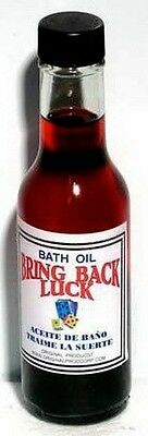 BATH OIL: BRING BACK LUCK  147ml Wicca Witch Pagan Spell Goth Punk PROSPERITY
