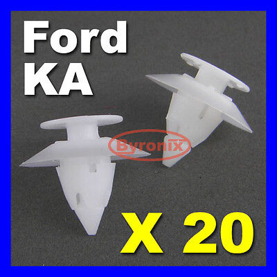 Ford Ka Bumper Clips Front Rear Trim Plastic Fixing Clips Fasteners