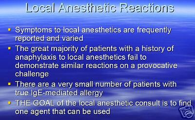 114 page Anesthesiologist ANESTHESIA DRUG ALLERGY PowerPoint Presentation on CD