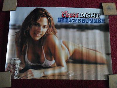 Sexy Girl Beer Poster Coors Get Summer White Bikini