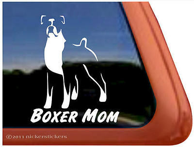 BOXER MOM High Quality Dog Auto Vinyl Window Sticker Decal ~ Super Gift!