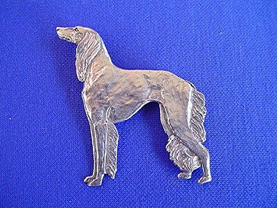 Saluki pin STANDING #15S Pewter sighthound DOG Jewelry by Cindy A. Conter