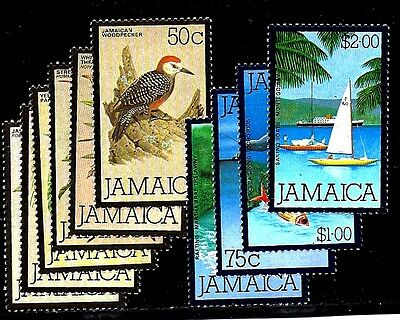 Jamaica Stamps #472-481  --- Birds & Water Sports  - 1980 -   Mint.